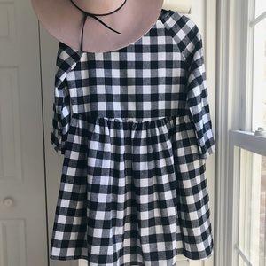 B&W Gingham Dress